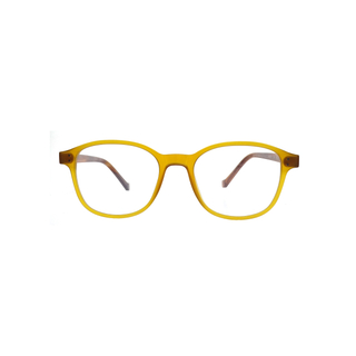 Acetate Translucent Yellow Full Frame Eyes Glasses LO-B352