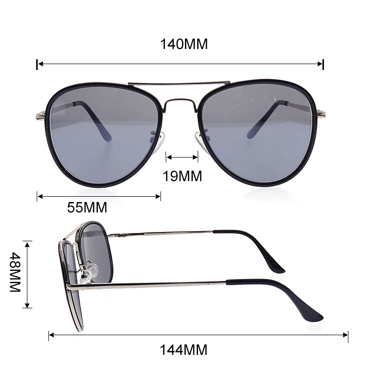 Hot Selling High-end Classic Mirrored Colorful Lenses Aviation Unisex Suglasses LS-M1016